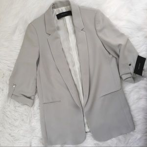 Zara Basics Grey Blazer NWT